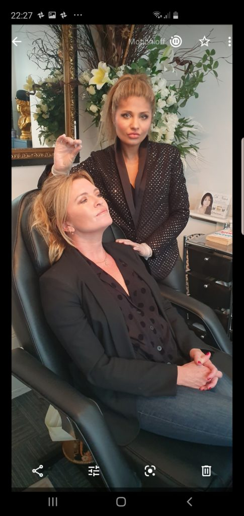 Doctor Nirdosh Injecting London Celebrity client with Fillers and Botox